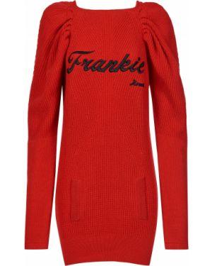 Шерстяное платье - красное Frankie Morello