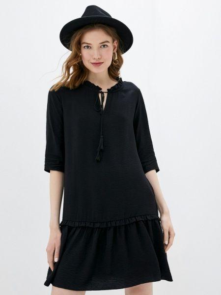 Платье прямое черное Adl