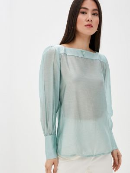 Зеленая блузка с длинным рукавом Solou