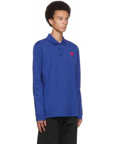 Niebieska koszulka bawełniana Versace