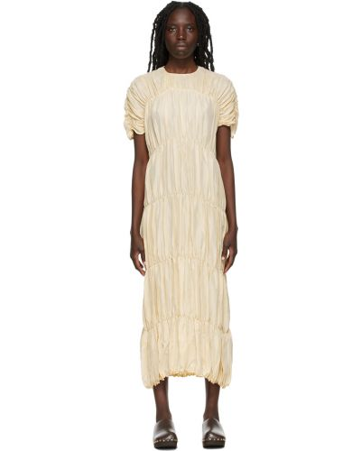 Шелковое платье - бежевое Toteme