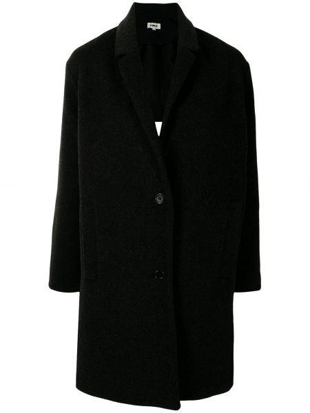 Długi płaszcz wełniany - czarny Ymc