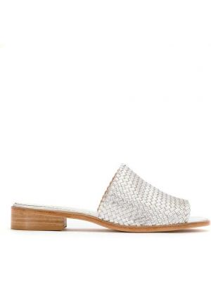 Серебряные мюли на каблуке Sarah Chofakian