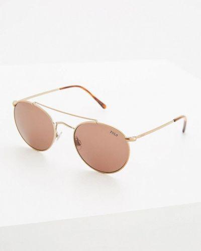Коричневые солнцезащитные очки Polo Ralph Lauren