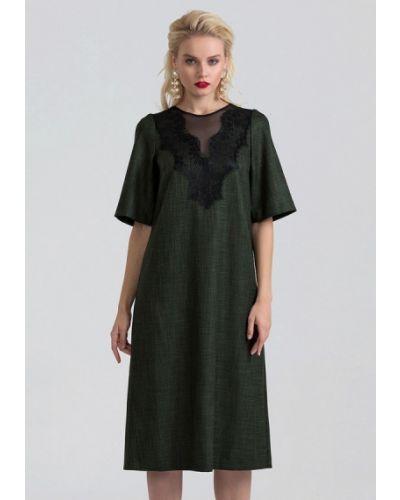 Платье осеннее зеленый Lova