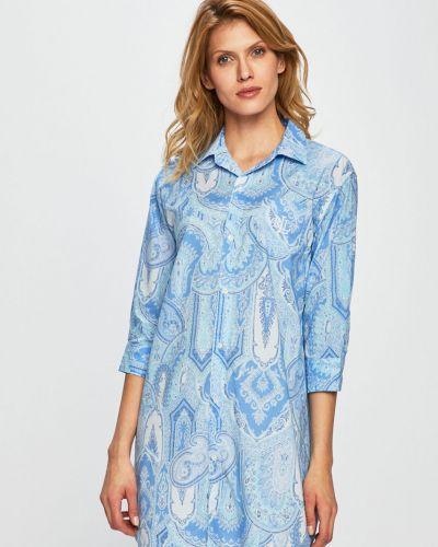 Пижама на пуговицах в полоску Lauren Ralph Lauren