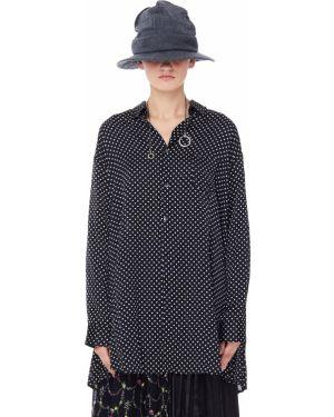Блузка в горошек - черная Junya Watanabe