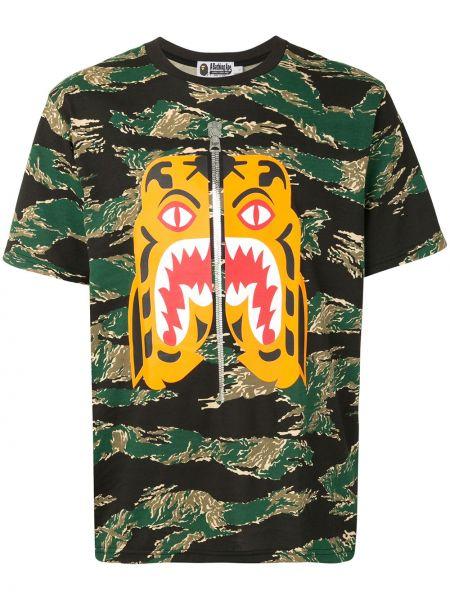 Koszula krótkie z krótkim rękawem prosto kamuflaż Bape