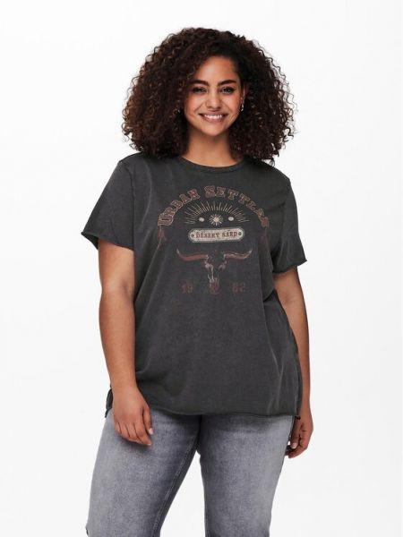 T-shirt - czarna Only Carmakoma