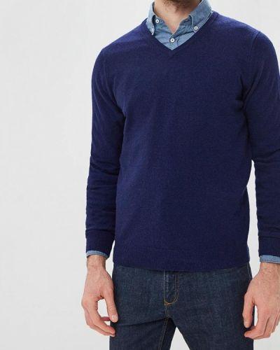 Пуловер синий Cortefiel