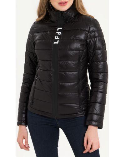 Черная утепленная куртка с воротником Lab Fashion
