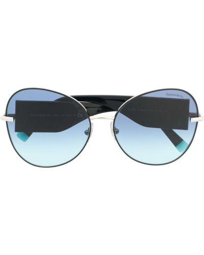 Черные солнцезащитные очки оверсайз Tiffany & Co Eyewear