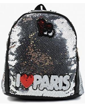 Серебряный рюкзак из искусственной кожи Diora.rim