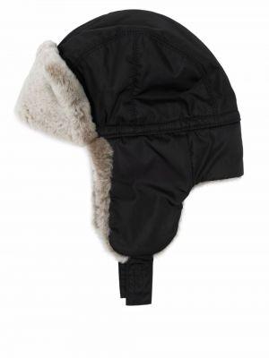 Czarna czapka z nausznikami Prada