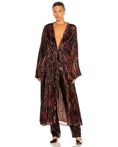 Бархатный халат - коричневый Rococo Sand