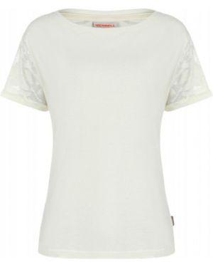 Хлопковая белая футбольная прямая спортивная футболка Merrell