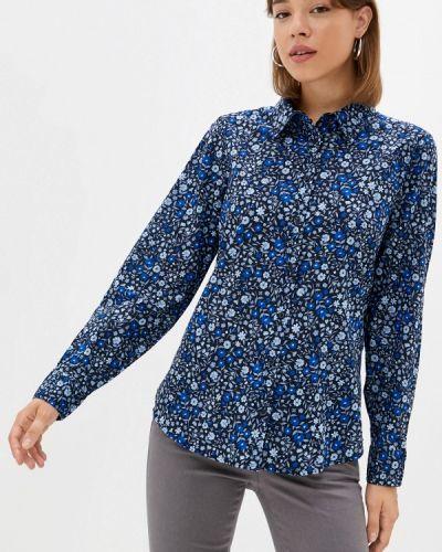 Синяя рубашка с длинным рукавом с длинными рукавами United Colors Of Benetton