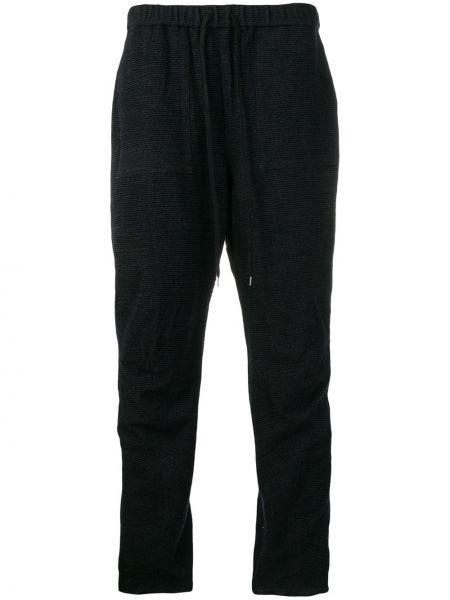 Акриловые синие прямые брюки свободного кроя с высокой посадкой Individual Sentiments