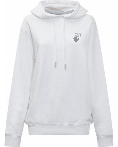 Bluza oversize z kapturem - biała Off-white
