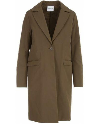 Brązowy płaszcz Aspesi