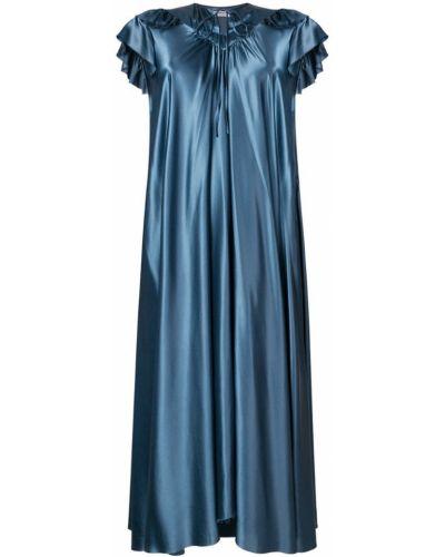 Платье миди вязаное солнце с оборками Balenciaga