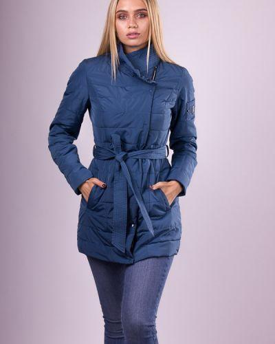 Синяя куртка с капюшоном на молнии Misun