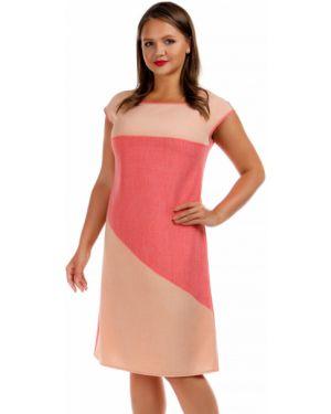 Летнее платье розовое персиковое Liza Fashion