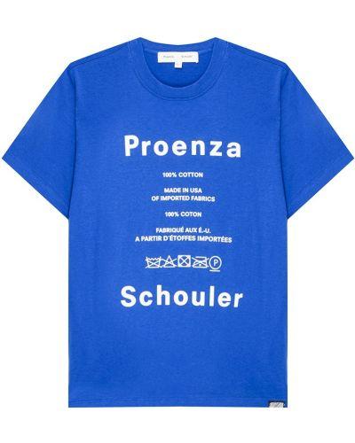 Футболка свободная с логотипом Proenza Schouler