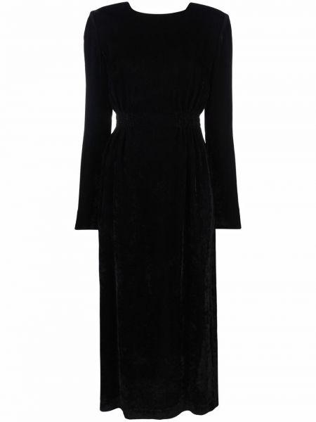 Платье макси с длинными рукавами - черное Tela