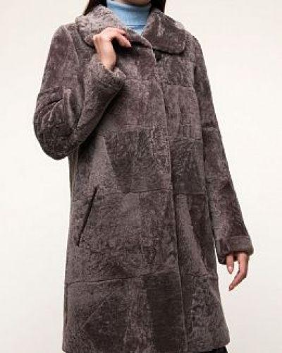 Пальто из овчины - коричневое Dzhanbekoff
