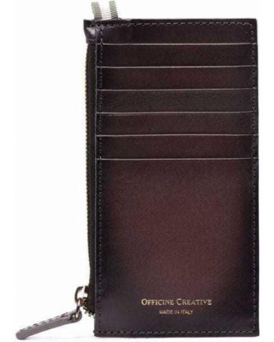 Серый кошелек на молнии Officine Creative