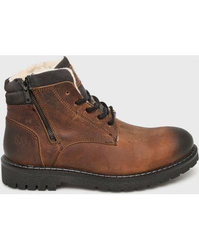 Ботинки на шнуровке кожаные высокие S.oliver