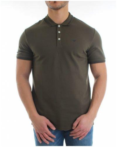 T-shirt bawełniana - zielona Emporio Armani