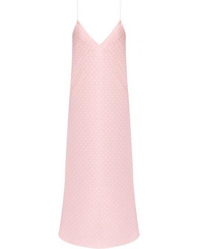 Платье розовое шелковое Walk Of Shame