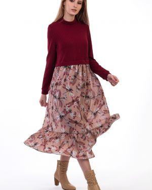 Платье лапша с цветочным принтом Kapsula