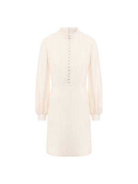 Шелковое платье макси - белое Chloé