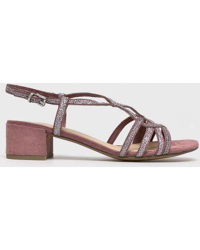 Туфли на каблуке розовый Marco Tozzi
