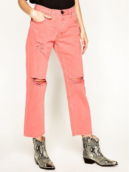Mom jeans - różowe One Teaspoon