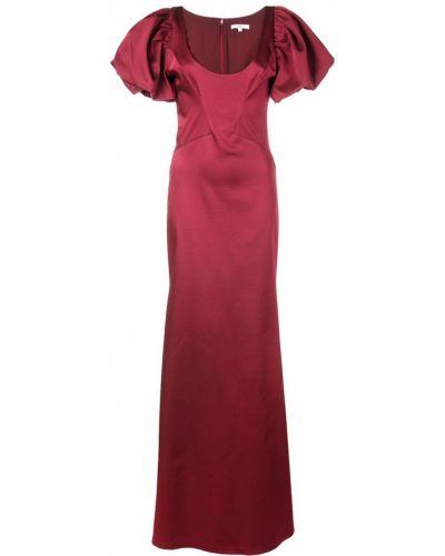 Платье с вырезом красный Zac Zac Posen