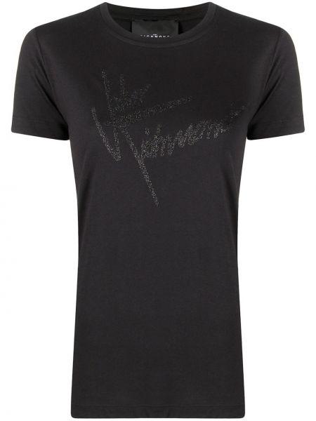 Хлопковая футболка - черная John Richmond