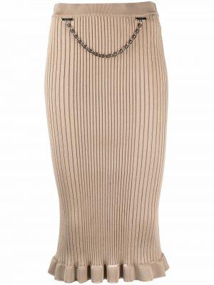 Spódnica ołówkowa z wiskozy prążkowana Givenchy