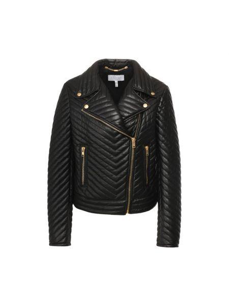 Кожаная куртка черная спортивная Escada Sport