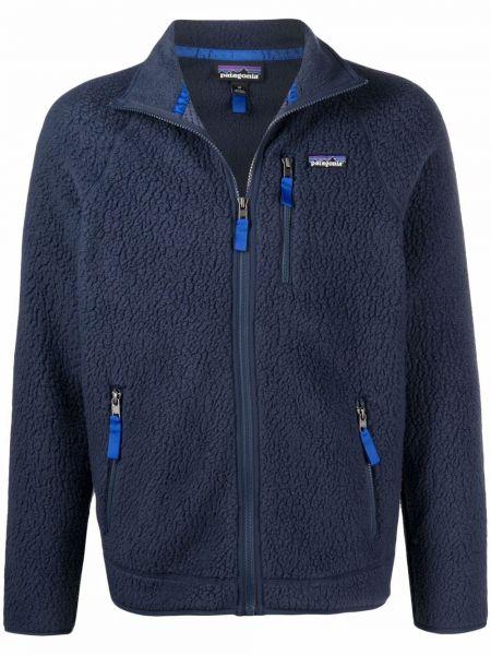 Синяя длинная куртка Patagonia
