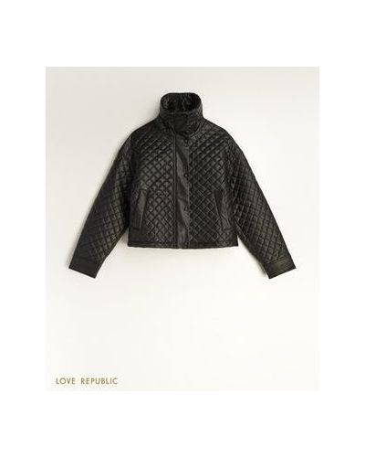 Стеганая куртка - черная Love Republic
