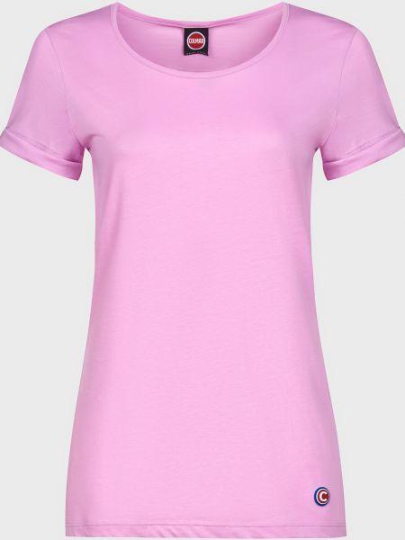 Хлопковая розовая футболка Colmar Originals