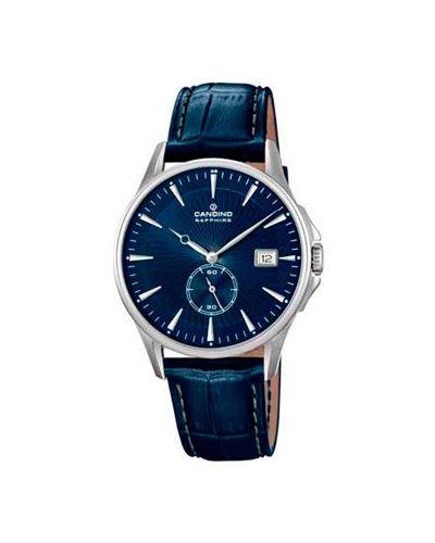 Часы водонепроницаемые с кожаным ремешком кварцевые Candino