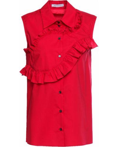 Хлопковая красная рубашка стрейч Vivetta