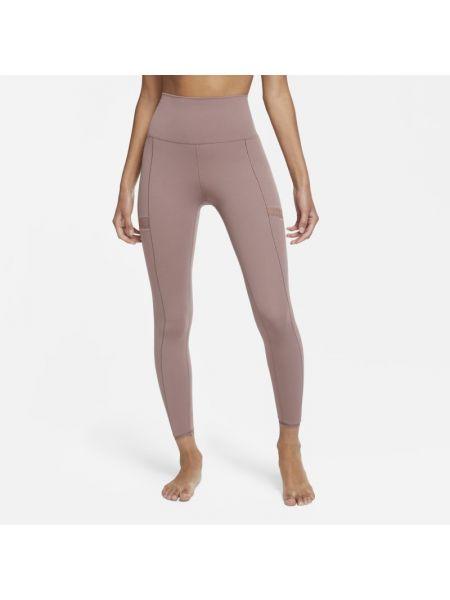 Fioletowe legginsy koronkowe Nike