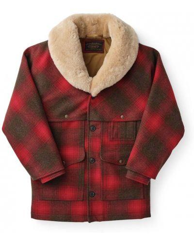 Czerwony płaszcz wełniany Filson