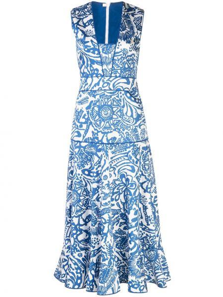 Приталенное платье с рисунком на молнии без рукавов Alexis